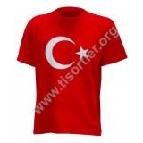 12 mart Bayrak baskılı Tişört