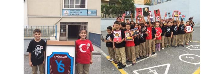 Bağcılar Yavuz Selim ilkokulu 4F Sınıfı 10 kasım tişörtleri