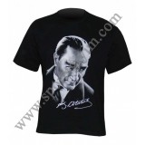 12 mart İstiklal Marşı'nın kabulü Atatürk baskılı Ti shirt