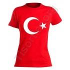 12 mart Bayan Bayrak baskılı  Tişört