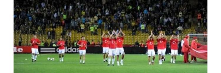 Fenerbahçe bayrak tişört ile antreman