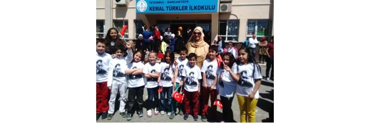 Keman Türker İlkokulu Atatürk Tişörtleri